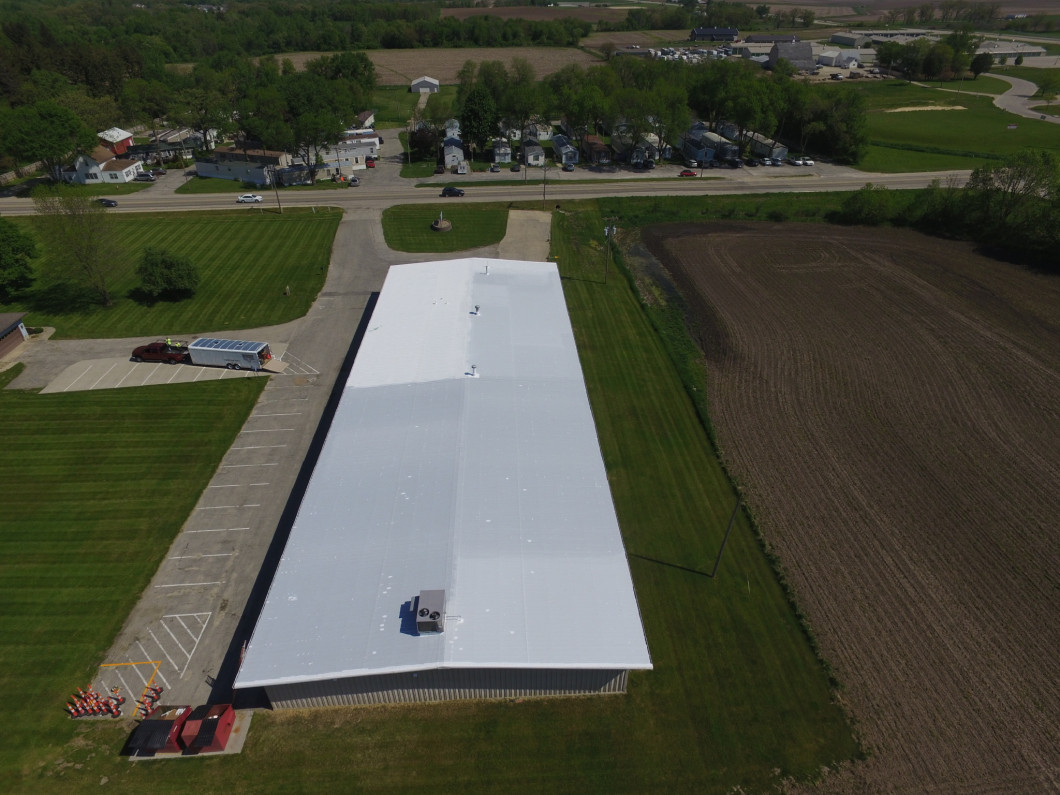 Commercial roof maintenance by Stanley Roofing Based out of Vinton, IA